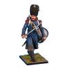 French Old Guard Chasseur Drummer in Greatcoat with Drawn Sword