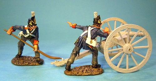 British Foot Artillery, 2 Crew Aiming