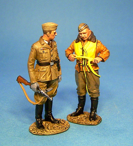 Pilot and NCO of Luftwaffe Signals Unit