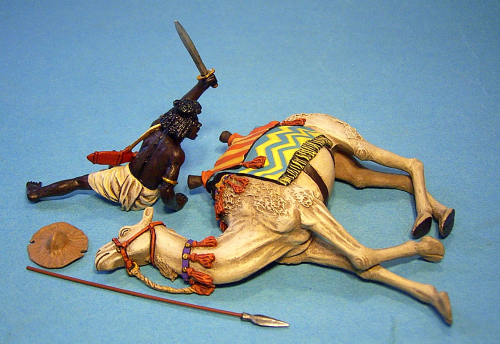 Beja Warrior and Wounded Camel