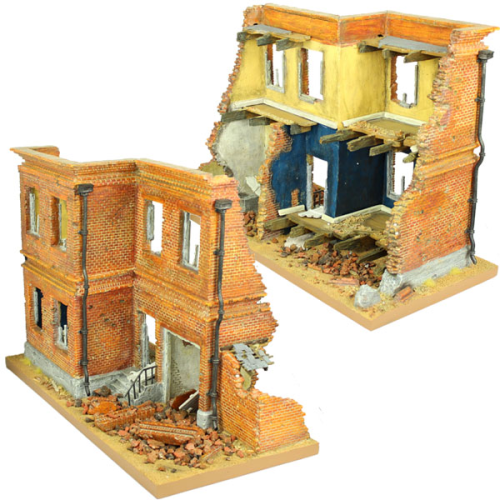 Modular Terrain Battle Damaged Brick Building