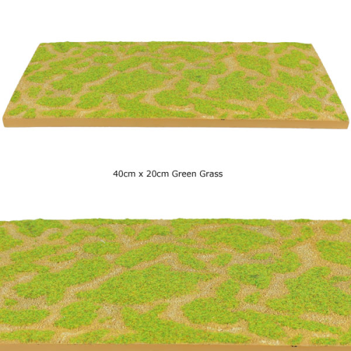 Modular Terrain Road Section - Green Grass