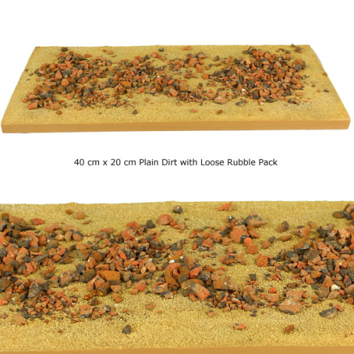 Modular Terrain Road Section with Loose Rubble Pack
