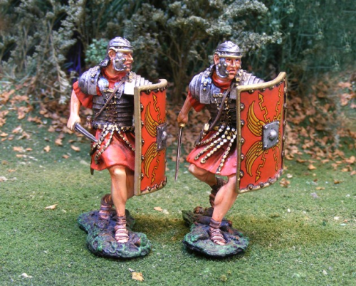 Roman Advancing (2 figs)