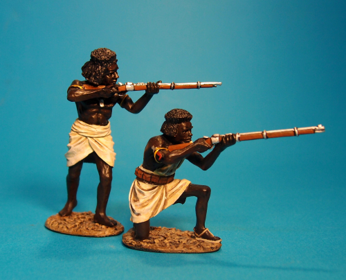 2 Beja Warriors with Rifles