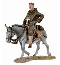 Monk on Donkey Back