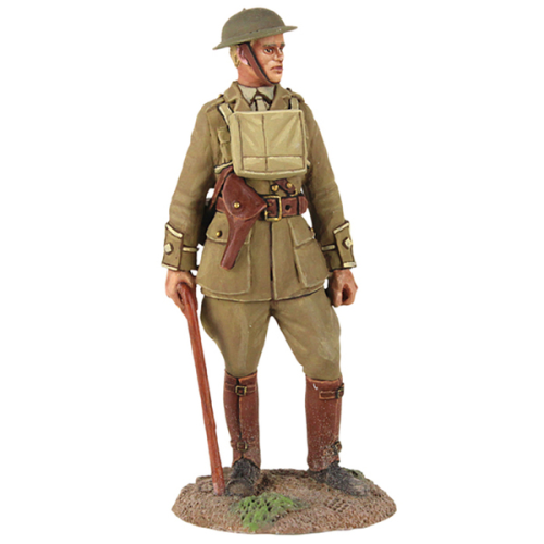 1916-18 British Infantry Officer Standing with Walking Stick