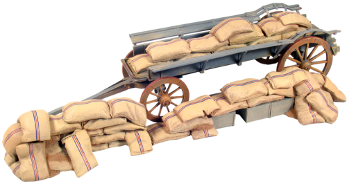 Ox Wagon Barricade with Mealie Bags Underneath