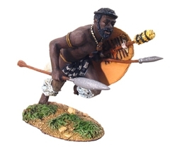 Zulu Warrior Charging with Assegai No.1