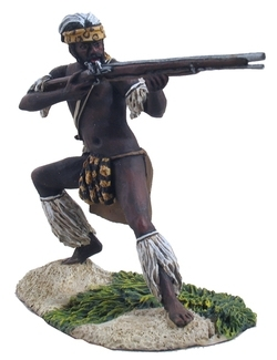 Zulu Warrior Firing Flintlock Musket No.1