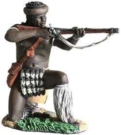 Zulu iNdluyengwe Attacking With Assegai No.1