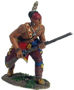 Eastern Woodland Indian Advancing Crouching with Musket No.1