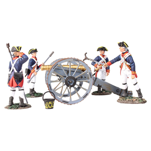 British Royal Artillery 6 Pound Gun with 4 Man Crew