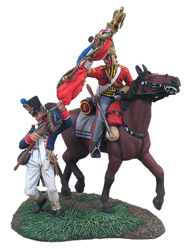"""Capture of the French 105th Ligne Eagle"" - British 1st Royal Dragoon Corporal and French Eagle Bearer"