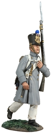French Line Infantry Fusilier Marching in Greatcoat No.2