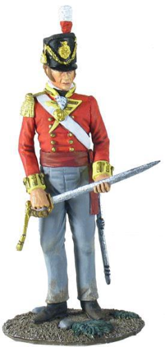 British 44th Foot Regiment Battalion Company Officer Standing with Sword No.1