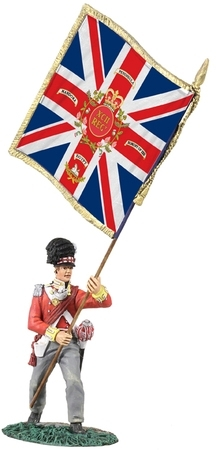 British 92nd (Gordon) Highlander Ensign with King's Colour Advancing No.1