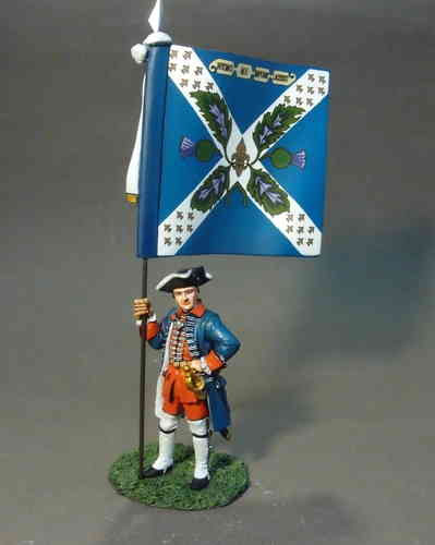 REGIMENT ROYAL ECOSSOIS, OFFICER WITH REGIMENTAL COLOURS