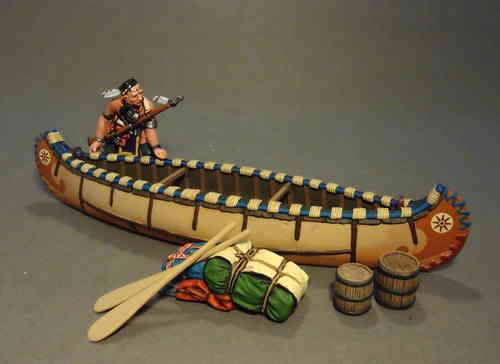 Woodland Indian with Canoe, (7pcs)      Limited Edition