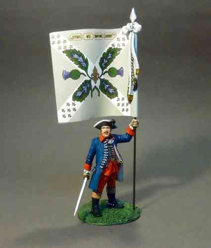 Regiment Royal Ecossois, Officer with Colonel's Colours. (Jacobite Rebellion, 1745)