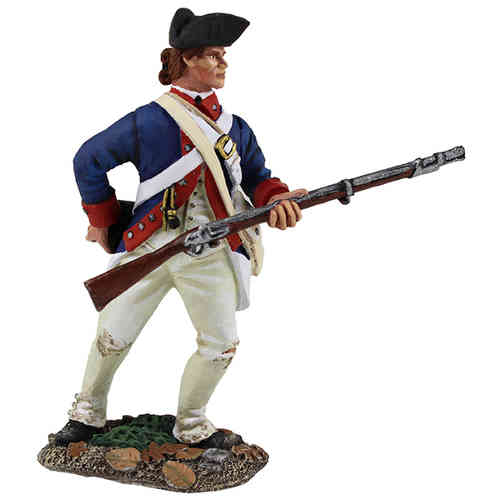 Contenental Line/1st American Regiment Standing Reaching for Cartridge, 1777-1787