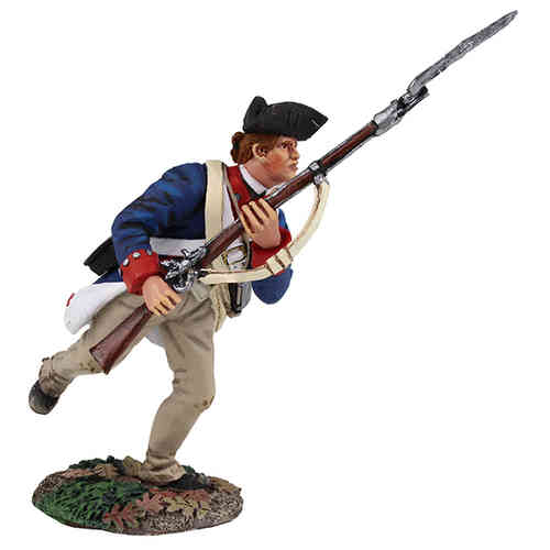 Continental Line/1st American Regiment Charging with Bayonet No.1, 1777-1787