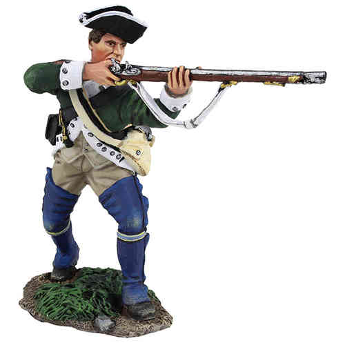 Loyalist Butler's Ranger Advancing and Firing