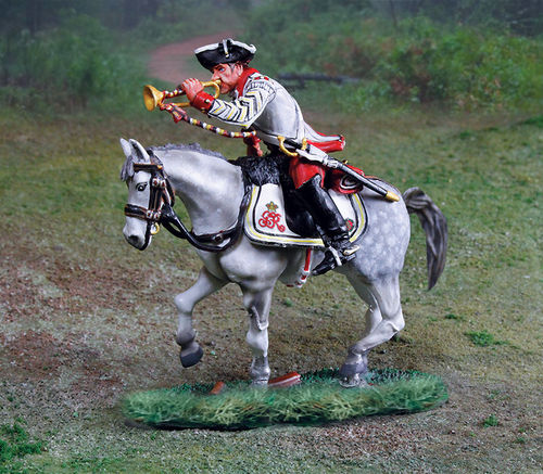 British 17th Dragoons Trumpeter