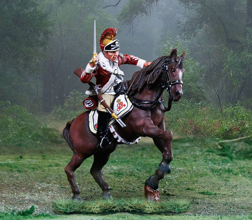 British 17th Dragoons Rearing Slashing