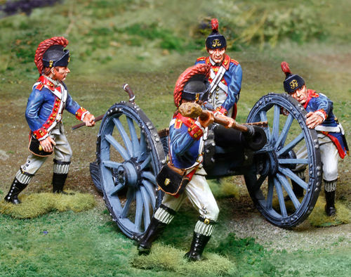 Royal Artillery 6 pounder  2 figs