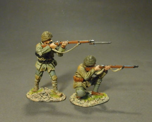 THE GALLIPOLI CAMPAIGN 1915, Ottoman Infantry Firing, (2pcs)