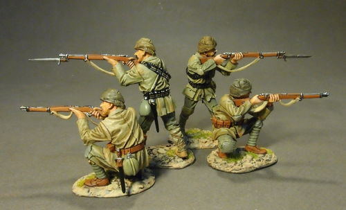 THE GALLIPOLI CAMPAIGN 1915, Ottoman Infantry Firing, Set#1 (4pcs)