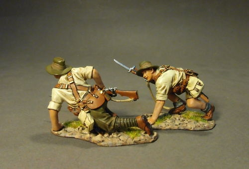 THE GALLIPOLI CAMPAIGN 1915, 2 x ANZAC's Crawling , (2pcs)