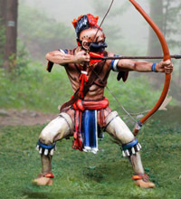 Iriquois Warrior Firing Bow