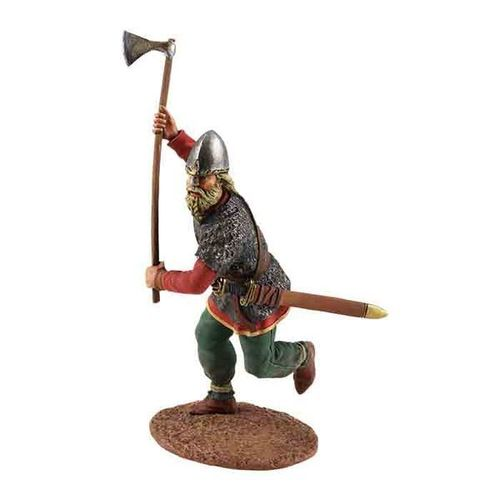 Viking Wearing Spangenhelm, Attacking with Ax