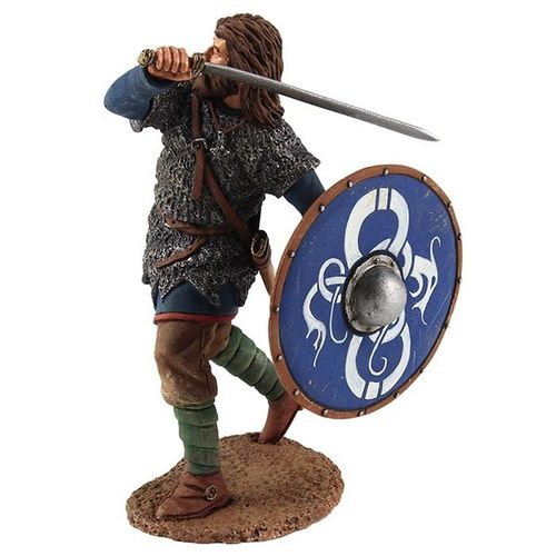 Viking Wearing Chain Mail Shirt, Attacking with Sword