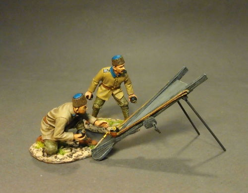 THE GALLIPOLI CAMPAIGN 1915, Ottoman Engineers, with Grenade Catapault, (3pcs)