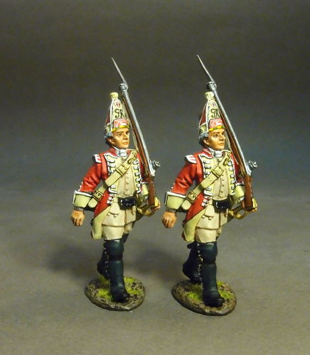 BRITISH 48th REGIMENT OF FOOT, GRENADIERS MARCHING, (2pcs)