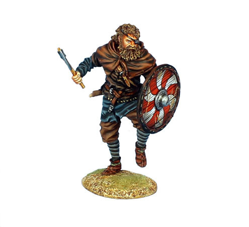 One Eyed Viking Warrior with Sword and Axe