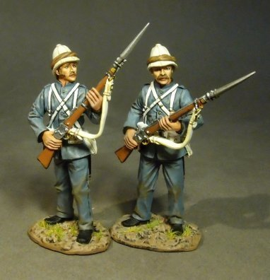 ROYAL MARINE LIGHT INFANTRY 2 MARINES STANDING AT READY,  (2pcs)
