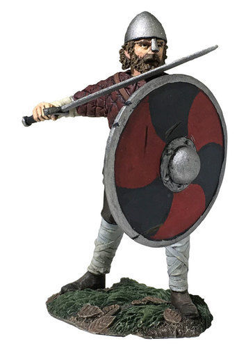 "Hereford"" Saxon Pushing With Shield"