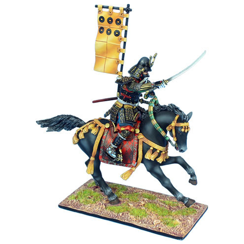 Mounted Samurai Charging with Katana - Takeda Clan