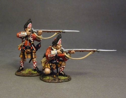78th (Highland) REGIMENT OF FOOT, FRASER'S HIGHLANDERS, 2 x GRENADIERS, (2 pcs)