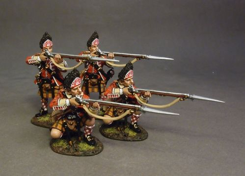 78th (Highland) REGIMENT OF FOOT, FRASER'S HIGHLANDERS, 4 x GRENADIERS, (4 pcs)