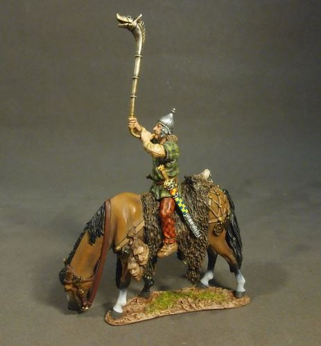 ARMIES AND ENEMIES OF ANCIENT ROME, ANCIENT GAULS, MOUNTED GAUL WITH CARNYX. (2 pcs)