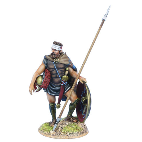 Greek Hoplite with Bandaged Head and Dory