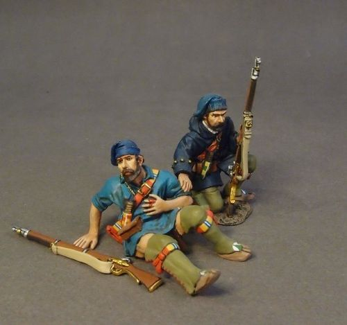 FRENCH MILITIA, MONTREAL BRIGADE, 2 Militia Casualties, (2pcs)