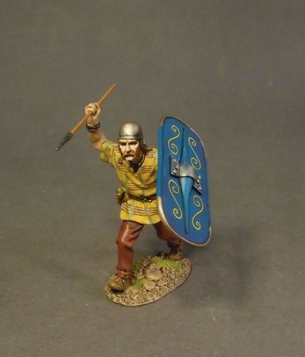 ARMIES AND ENEMIES OF ANCIENT ROME, ANCIENT GAULS, WARRIOR CHARGING. (1 pc)