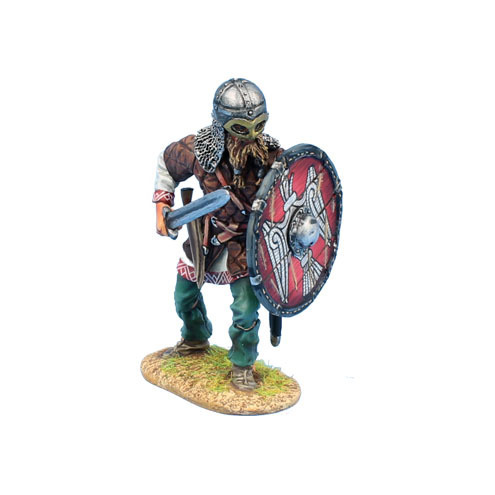 Viking Warrior Shieldwall with Sword