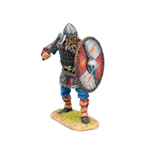 Viking Warrior Shieldwall with Axe